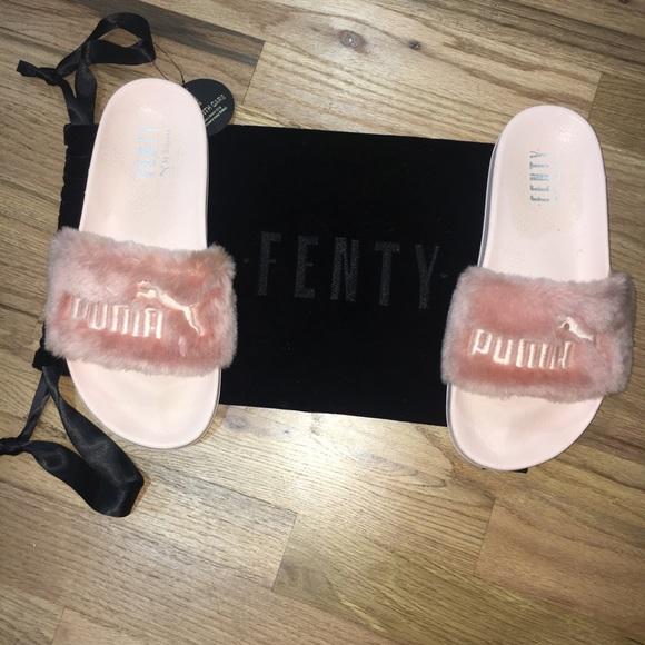4535c7c58afb ... Fenty pink fuzzy slides. M 5a4e9247d39ca2ccbb00139f